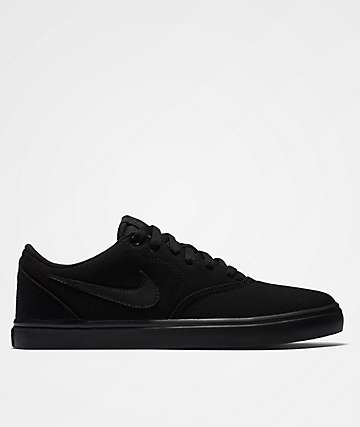 Nike SB Check Solarsoft Black & Black Shoes