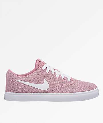 Nike SB Check Solarsoft Pink & White Shoes