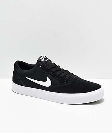 1741027a5077 Nike SB Chron SLR Black   White Skate Shoes