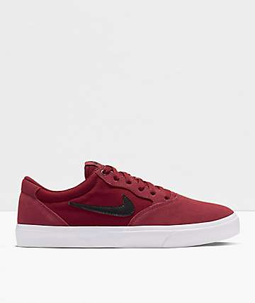 Nike SB Chron SLR Dark Red & Black Skate Shoes
