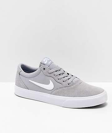 Nike SB Chron SLR Wolf zapatos de skate grises y blancos