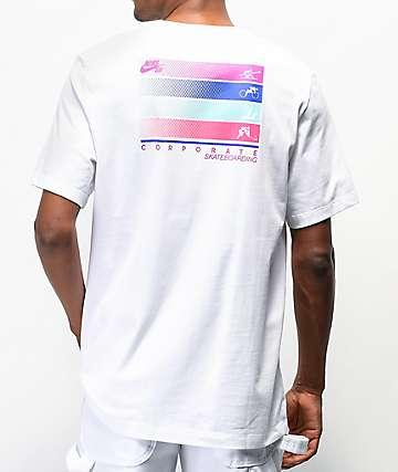 Nike SB Corporate Sports White T-Shirt