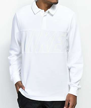 Nike SB DRI-Fit White Rugby Long Sleeve Shirt