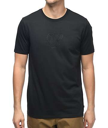 Nike SB Debossed Logo Dri-Fit camiseta negra