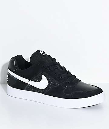 Nike SB Delta Force Black & White Skate Shoes