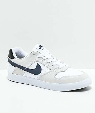 Nike SB Delta Force White & Navy Skate Shoes