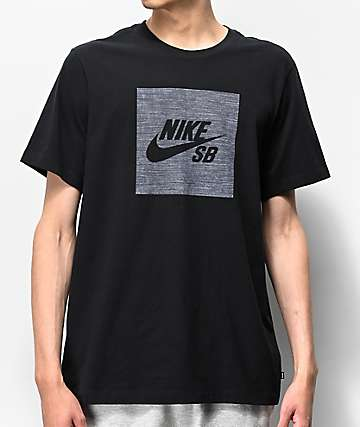 Nike SB Dri-Fit Logo Chambray Black T-Shirt