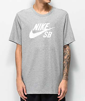 Nike SB Dri-Fit Logo Chambray Grey T-Shirt