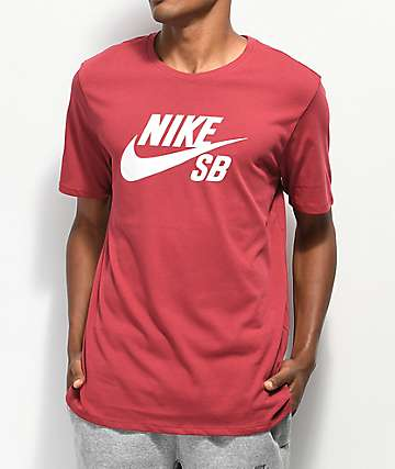 Nike SB Dri-Fit Logo Red T-Shirt