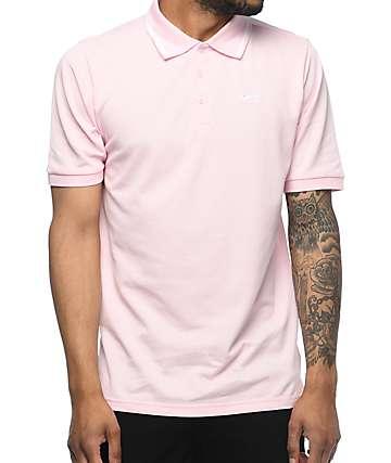 Nike SB Dri Fit Pique Knit Pink Polo Shirt