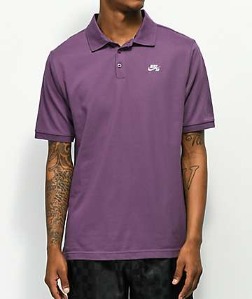 Nike SB Dri Fit Pique Knit Purple Polo Shirt
