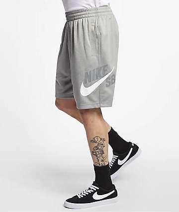 Nike SB Dri-Fit Sunday Grey & White Shorts