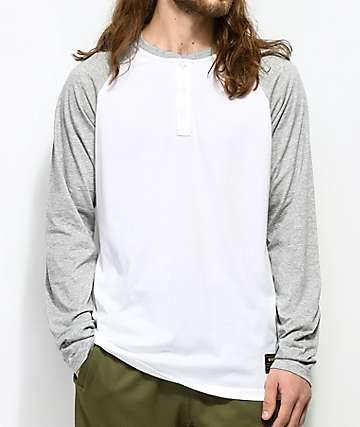 Nike SB Dri-Fit camiseta blanca de manga larga con cuelo henley