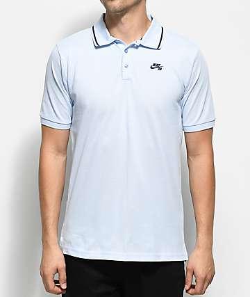 Nike SB Dri Fit camiseta polo de punto pique en color Hydrogen Blue
