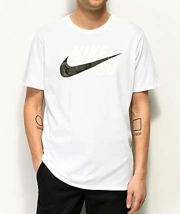 Nike SB Dry Camo White T-Shirt
