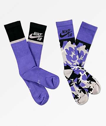 Nike SB Energy paquete de 2 calcetines morados