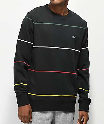 Nike SB Everett Stripe Black Crew Neck Sweatshirt