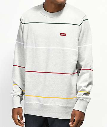 Nike SB Everett Stripe Grey Crew Neck Sweatshirt