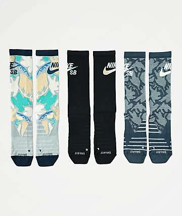 Nike SB Everyday Max Lightweight 3 Pack Crew Socks