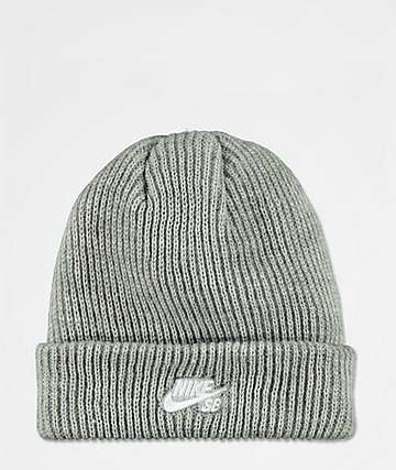 d2f6839b33b Nike SB Fisherman Dark Heather Grey Beanie