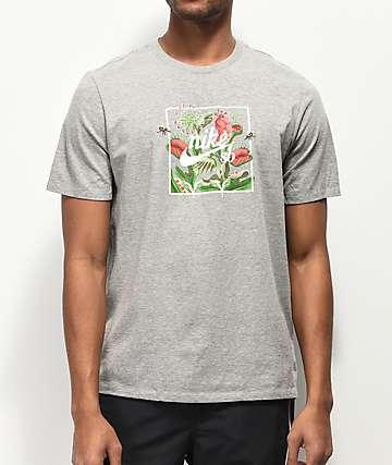 Nike SB Floral Flytrap Grey T-Shirt