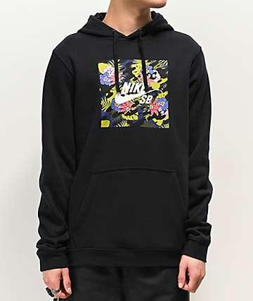 Nike SB Floral Safari Black Hoodie