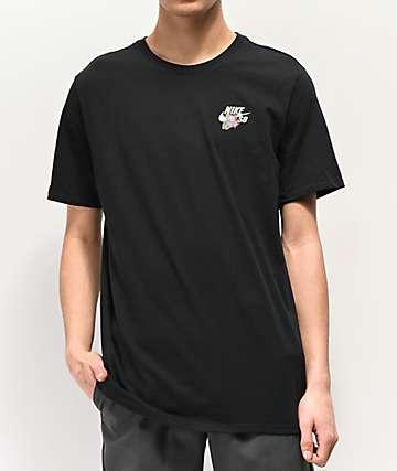 0f2d0ac7 Nike SB Floral Safari Black T-Shirt