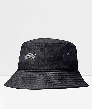 Nike SB French Terry Black Bucket Hat