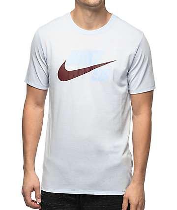 Nike SB Futura Tonal Hybrid Logo Dri-Fit camiseta en azul claro