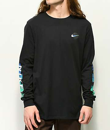 Nike SB Globe Black Long Sleeve T-Shirt