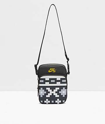Nike SB Heritage Black & Grey Shoulder Bag
