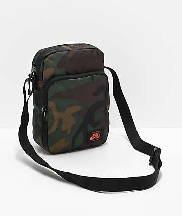 Nike SB Heritage Iguana Green Camo Shoulder Bag