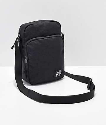Nike SB Heritage bolso de hombro negro y blanco
