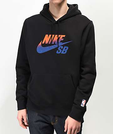 Nike SB Icon Black, Orange & Blue Hoodie