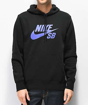 Nike SB Icon Black & Purple Hoodie