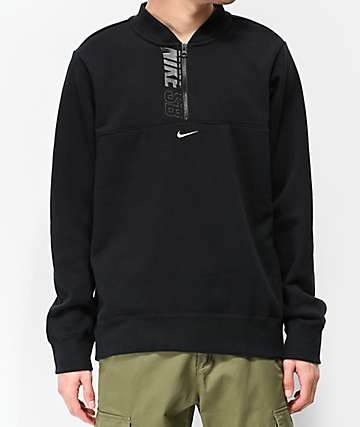 Nike SB Icon Black Quarter Zip Sweatshirt