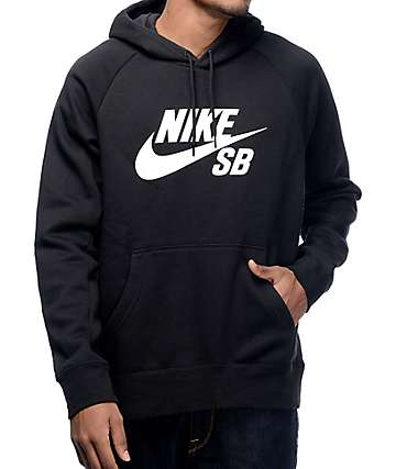 Nike SB Icon Black and White Hoodie