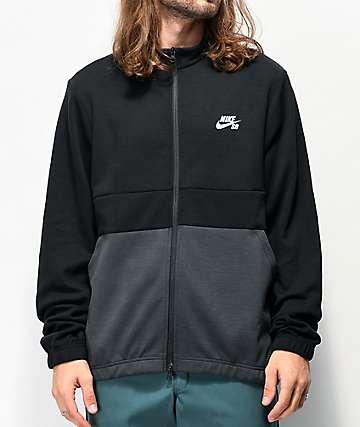 Nike SB Icon Dry Fleece Black & Grey Track Jacket