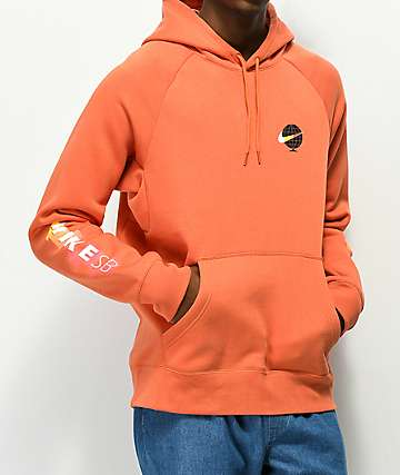 Nike SB Icon Globe Burnt Orange Hoodie