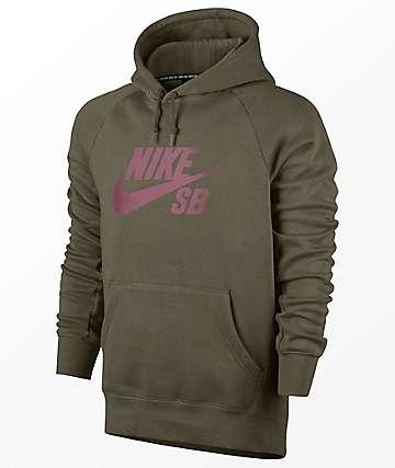 Nike SB Icon Green Hoodie