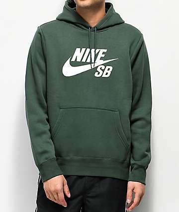 7ac9db711096 Nike SB Icon Midnight Green Hoodie