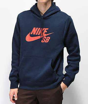 Nike SB Icon Navy & Red Hoodie