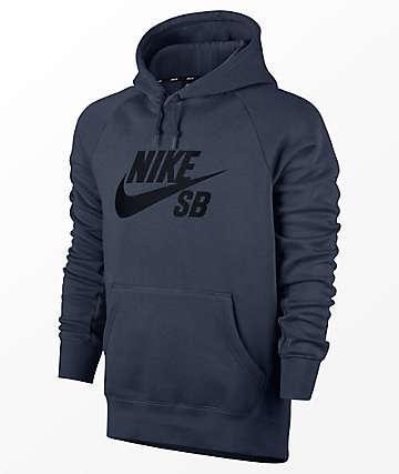 Nike SB Icon Navy Hoodie