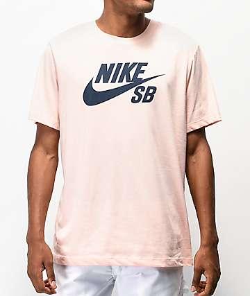 Nike SB Icon Pink T-Shirt
