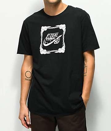 Nike SB Icon Roses camiseta negra