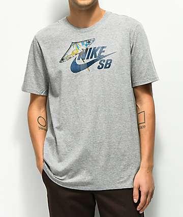 Nike SB Icon Umbrella camiseta gris