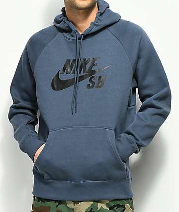 Nike SB Icon sudadera azul con capucha