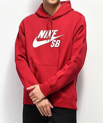 Nike SB Icon sudadera con capucha roja
