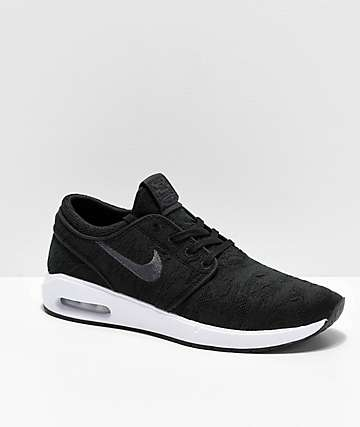 pretty nice a29ae 3d4a0 Nike SB Janoski Air Max 2 Black   White Skate Shoes