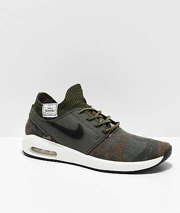 Nike SB Janoski Air Max 2 Premium Camo & White Skate Shoes